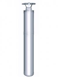 HARVIA Комплект дымохода WHP1500 (дымоходы: 1,5 м сталь (изолир.), 1.0 м сталь (неизолир.); оголовок; фланцы: дождевой, проходной; проходная изоляция)