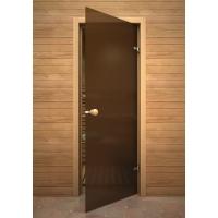 Дверь стеклянная Knob бронза матовая
