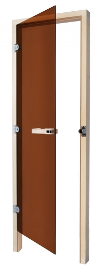 SAWO Дверь 730 - 3SGD L, бронза, левая,без порога, кедр, 690мм х 1890мм