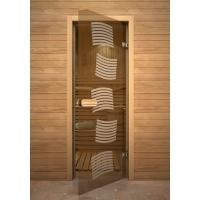 Дверь стеклянная с рисунком «Глассджет» Модерн