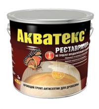 Акватекс реставратор - восстановливающий грунт-антисептик СОСНА 0,8л