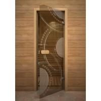 Дверь стеклянная с рисунком «Глассджет» Кольца