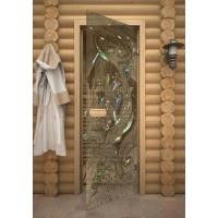 Дверь стеклянная с фьюзингом осетры