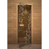 Дверь стеклянная с рисунком «Глассджет» Ручей