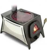 Дровяная отопительно-варочная  печь в восточном стиле Селенга