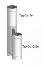 Труба одноконтурная 1м и 0.5м