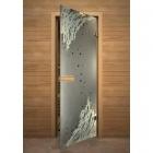 Дверь стеклянная с фьюзингом 9-й вал