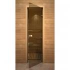 Дверь стеклянная Knob бронза