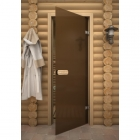 Дверь стеклянная Linden бронза матовая