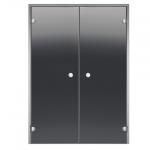 HARVIA Двери стеклянные, двойные, прозрачная, размеры: 13x19, 13x21, 15x19, 15x21, 17x19, 17x21