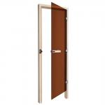 SAWO Дверь 730 - 3SGD, бронза, правая, без порога, кедр 690мм х 1850мм
